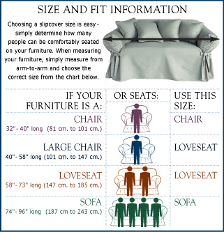 Sofa, Chair And Loveseat Slipcovers | Wingback And Ottoman Slipcovers |  Recliner Slipcovers · Dining And Folding Chair Slipcovers | Decorative  Pillows ...